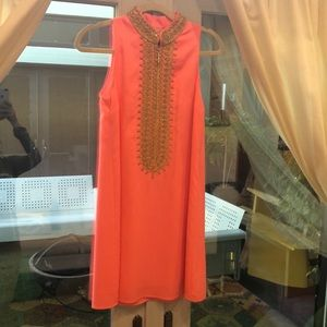 Lilly Pulitzer Indian Style Dress in Coral